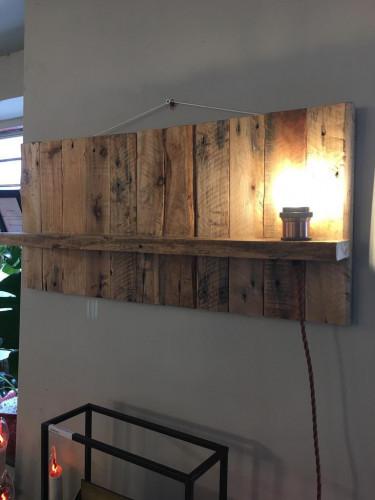 Reclaimed Wood Hanging Shelf/Light 760mm X 100mm