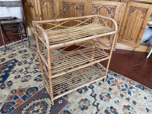 70's Bamboo Three Tier Shelf