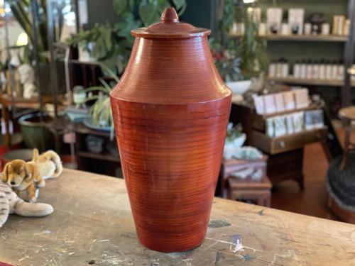 Tall Wooden Urn