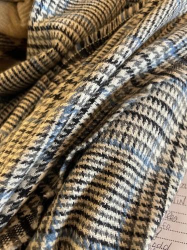 Mid Century Plaid Wool Blanket