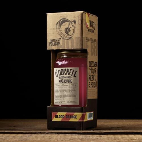 O'Donnells Moonshine 700ml Gift Set Blood Orange