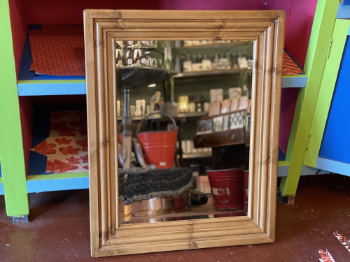Old Pine Bevelled Mirror