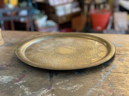 African Brass Tray