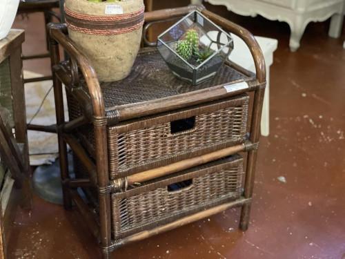 Little Bamboo Wicker Shelf Cabinet
