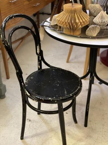 50's Black Bistro Chair