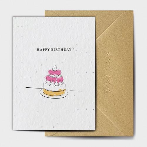 Plantable Seed Card Happy Birthday (Cake)