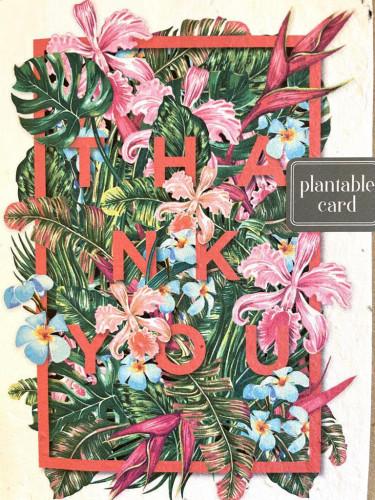 Plantable Seed Card THA NK YOU (Tropical)