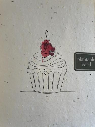 Plantable Seed Card Cupcake