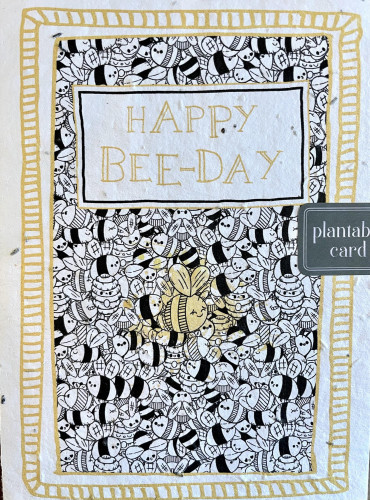 Plantable Seed Card HAPPY BEE-DAY