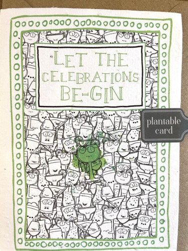 Plantable Seed Card LET THE CELEBRATIONS BE-GIN