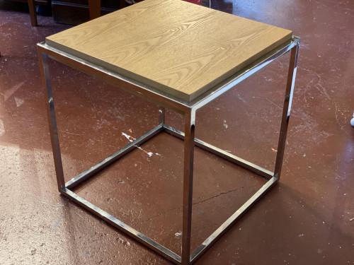 Chrome Oak Side Coffee Table