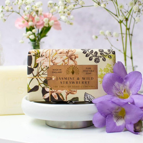Jasmine & Wild Strawberry Vegetable Soap 200gm