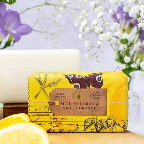 Sicilian Lemon & Sweet Orange Vegetable Soap 200gm
