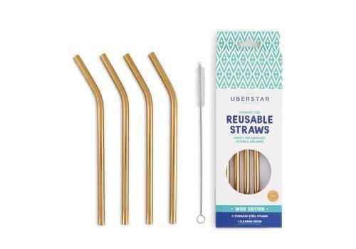 Uberstar Reusable Straws - Gold