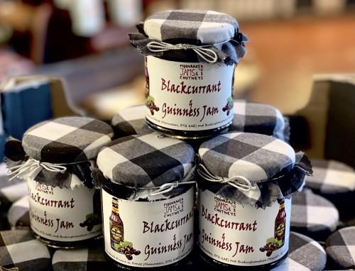 Blackcurrant & Guinness Jam 200gm Moonraker by Ross Jams & Chutneys