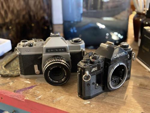 Antique Cameras (Pair)