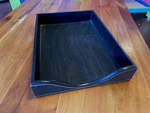 Italian Leather Letter Tray