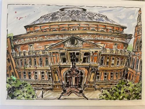 Wonky Art Greeting Card  Royal Albert Hall