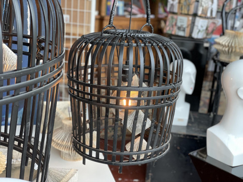 Black Bamboo Ceiling Light (Small)