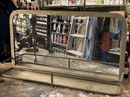 Metal Shelf Mirror