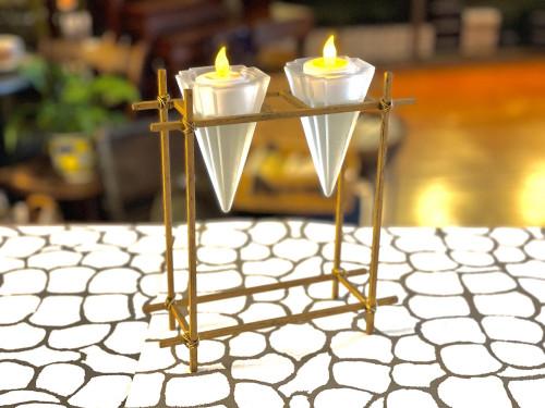 Art Deco Style Tea Light Holder