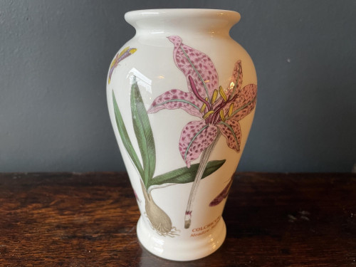 Small botanical white vase