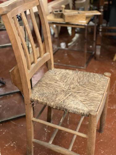 Rush Seat Prayer Chair