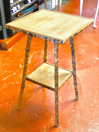 Tortoise Shell Effect Bamboo Plant Stand Table