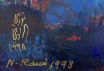 OIL ON BOARD PAINTING BY THE IRAQI PIONEER NOURI AL RAWI 1925-2014