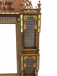 A CARVED HARDWOOD IVORY-INLAID HANGING MIRROR, OTTOMAN-SYRIA, 19TH CENTURY