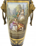 PAIR OF SÈVRES STYLE AND ORMOLU FRENCH HAND-PAINTED PORCELAIN TABLE LAMPS