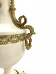 PAIR OF FRENCH MARBLE AND GILT-BRONZE LOUIS XVI STYLE CANDELABRA