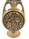 LATE 19TH CENTURY FLORAL GILT DECORATED ROYAL WORCESTER PORCELAIN VASE