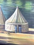 CAMP ON THE TIGRIS, OIL ON CANVAS PAINTING BY ABDUL KADIR AL RASSAM (IRAQ, 1882-1952)