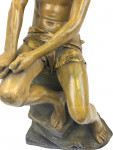 A GOLDSCHEIDER PAINTED TERRACOTTA FIGURE OF A YOUNG BOY, LATE 19TH