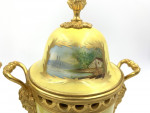 PAIR OF 19TH CENTURY SEVRES STYLE PORCELAIN AND ORMOLU LIDDED VASES