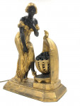 GILDED METAL FIGURAL LAMP AFTER JULES CAUSSE, (FRENCH, 1869-1914)