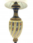 LATE 19TH CENTURY SEVRES STYLE PORCELAIN LAMP TWIST BODY