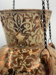 SPANISH HISPANO-MORESQUE LUSTER ISLAMIC MOSQUE LAMP, LATE 17TH CENTURY