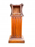 PAIR OF CARVED WOOD PEDESTALS WITH SECRET COMPARTMENT