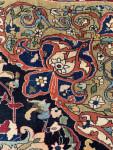 ANTIQUE WOOL AND PART SILK PERSIAN TEHRAN RUG