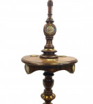 MAHOGANY LAMP STANDARD DECORATED WITH SEVRES STYLE PORCELAIN PLAQUES