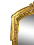 LARGE PAIR OF GILT WOOD VICTORIAN OVERMANTLE MIRRORS