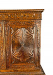ANGLO-INDIAN CARVED PADOUK LINEN PRESS