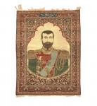 RARE MOHTASHAM KASHAN RUG, LAST TSAR OF RUSSIA NICHOLAS