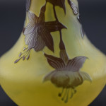 Galle cameo glass Fuchsia vase