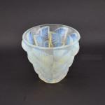 Rene Lalique opalescent Moissac vase