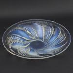 Rene Lalique opalescent Fleurons coupe plate