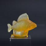 Rene Lalique Amber Opalescent Perche Car Mascot
