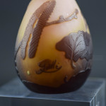 Galle cameo glass catkin vase